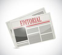 editorial newspaper illustration design - stock illustration