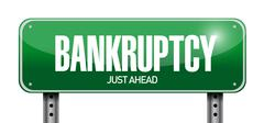 bankruptcy road sign illustration design - stock illustration
