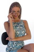 young female secretary - stock photo