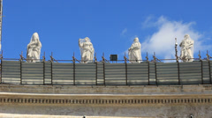 Restoration work on St Peters in Rome 5 Stock Footage