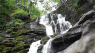 Stock Video Footage of Shipot waterfall in the Carpathians.
