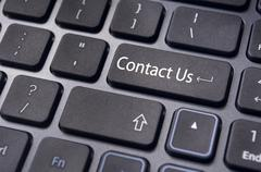 contact us message on enter key, for online conctact. - stock illustration