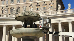 Restoration work on St Peters in Rome 4 Stock Footage