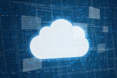 cloud on digital background. - stock illustration