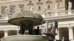 Restoration work on St Peters in Rome 3 Stock Footage