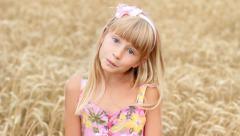 Child Girl Playing Peek-A-Boo HD Stock Footage