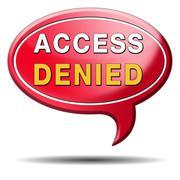 access denied - stock illustration