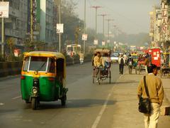 Busy street of delhi, india Stock Photos