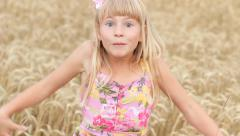 Expression Little Girl Playing Peek-A-Boo HD Stock Footage