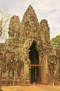 South gate of angkor thom, angkor area, siem reap Stock Photos