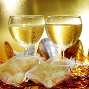 Spanish champagne and the twelve grapes of luck Stock Photos