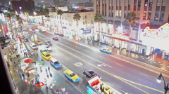 Hollywood Blvd. at Night Stock Footage