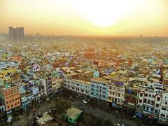 View of delhi from jama masjid Stock Photos