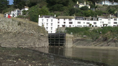 polperro harbour in cornwall Stock Footage