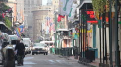 Truck on Bourbon Street Stock Footage