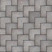 Gray Square Pavement. Seamless Tileable Texture. - stock illustration