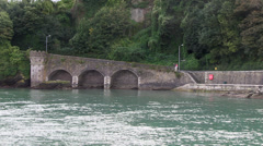 east looe river in looe town Stock Footage