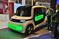 Frankfurt - sept 14: cube auto presented as world premiere at the 65th iaa (i Stock Photos