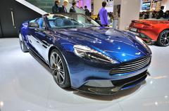 frankfurt - sept 14: aston martin vanquish coupe presented as world premiere  - stock photo