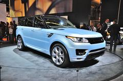 frankfurt - sept 14: land rover range rover presented as world premiere at th - stock photo