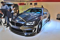 frankfurt - sept 14: bmw m6 mirr6r hamann presented as world premiere at the  - stock photo