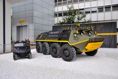 Frankfurt - sept 14: mansory schutzenpanzerwagen presented as world premiere  Stock Photos