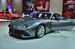 frankfurt - sept 14: ferrari f12 berlinetta presented as world premiere at th - stock photo