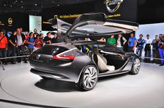 Frankfurt - sept 14: opel monza concept presented as world premiere at the 65 Stock Photos