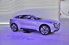 frankfurt - sept 14: subaru viziv concept presented as world premiere at the  - stock photo
