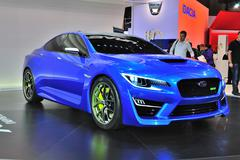 frankfurt - sept 14: subaru wrx concept presented as world premiere at the 65 - stock photo