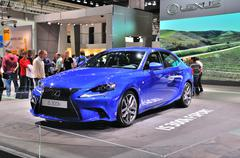 frankfurt - sept 14: lexus is 300h presented as world premiere at the 65th ia - stock photo