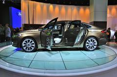frankfurt - sept 14: ford mondeo vignale presented as world premiere at the 6 - stock photo
