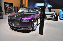 frankfurt - sept 14: rolls-royce wraith presented as world premiere at the 65 - stock photo