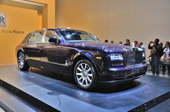 frankfurt - sept 14: rolls-royce phantom presented as world premiere at the 6 - stock photo