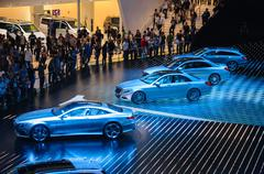 frankfurt - sept 21: merecedes-benz  presented as world premiere at the 65th  - stock photo