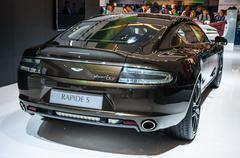 frankfurt - sept 21: aston martin rapide s presented as world premiere at the - stock photo