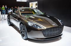 Frankfurt - sept 21: aston martin rapide s presented as world premiere at the Stock Photos