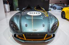 frankfurt - sept 21: aston martin cc100 presented as world premiere at the 65 - stock photo