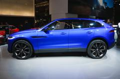 frankfurt - sept 21: jaguar c-x17 concept presented as world premiere at the  - stock photo