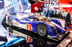 frankfurt - sept 21: toyota ts030 hybrid presented as world premiere at the 6 - stock photo