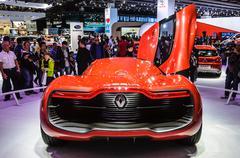 frankfurt - sept 21: renault alpine a110-50 concept car presented as world pr - stock photo