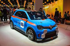 Frankfurt - sept 21: renault twin-run concept car presented as world premiere Stock Photos