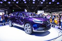 Frankfurt - sept 21: renault initiale paris concept car presented as world pr Stock Photos