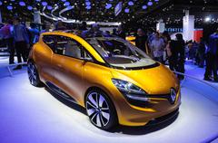 frankfurt - sept 21: renault r-space concept  presented as world premiere at  - stock photo