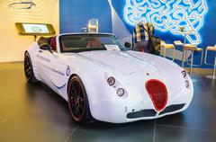 frankfurt - sept 21: wiesmann roadster mf2 presented as world premiere at the - stock photo