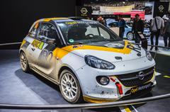 frankfurt - sept 21: opel adam rally presented as world premiere at the 65th  - stock photo