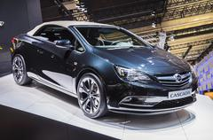 frankfurt - sept 21: opel astra cabrio presented as world premiere at the 65t - stock photo