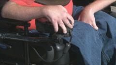 Wheelchair User Stock Footage