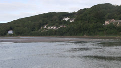 Convergence of east and west looe rivers in looe Stock Footage