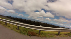 Hairpin Turn with Bike Mount Stock Footage